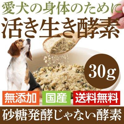 犬 猫用 無添加 酵素 サプリ(活き生き 酵素 30g) 国...