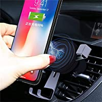 携帯電話ホルダーiphone 8 / X用ワイヤレス充電器 (ローズゴールド)