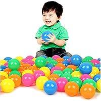 Mazhashop カラーボール 7色 200個入り 直径7cm 大きいサイズ【やわらか素材使用】 収納袋付