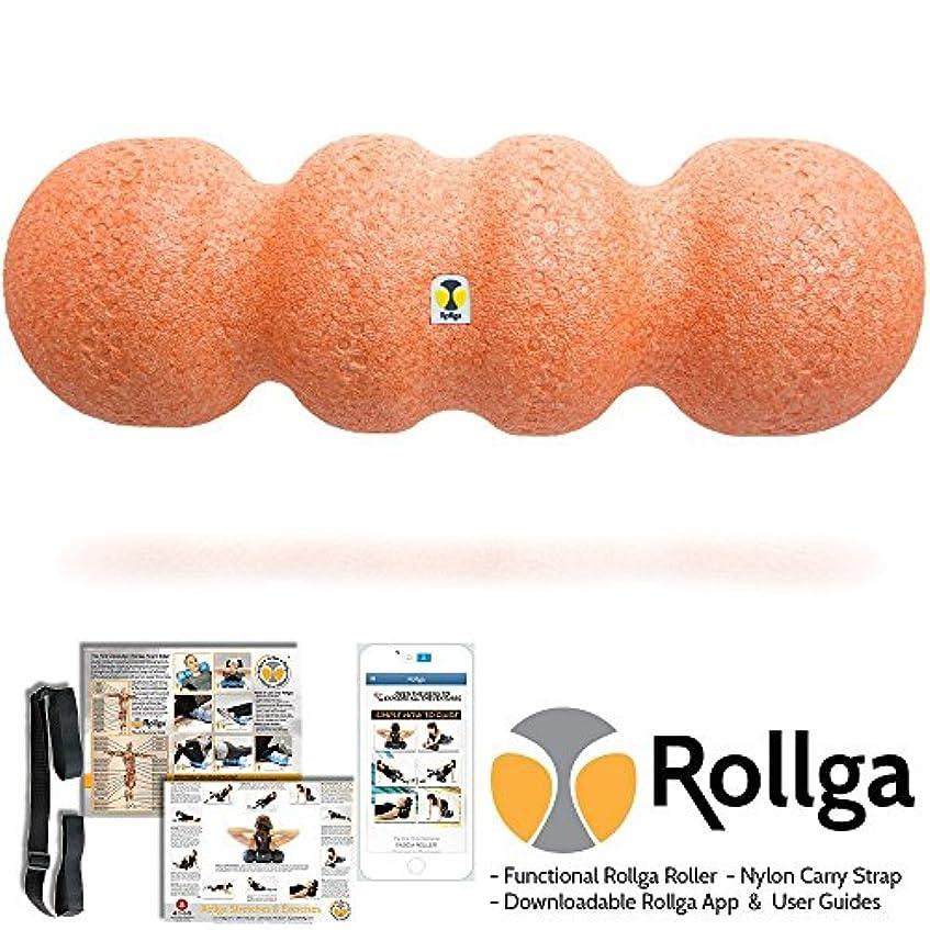 Rollga Sunrise 46cm Orange Foam Roller High Density Trigger Point Roller and Self Body Massager Muscle Pain Back...