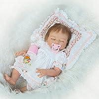 NPKDOLL Rebornベビー人形高ビニル20インチ50 cm Lifelike Vivid Boy Girlホワイト枕rd50 F007 C目閉じ
