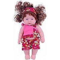 30cm 赤い服を着たシリコン ソフトビニール製女の子おもちゃ 赤ちゃん 人形
