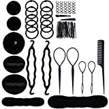 Haobase Hairdressing Accessories, Hairdressing Tools Set Hairstyle Stylized Accessory Hair Girls Sponge Foam Hairclip Braid