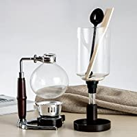 DecentGadgetテつョ Coffee Syphon / Siphon Coffee Vacuum Glass Coffee Maker 5 Cup Syphon Maker, A Coffee Siphon Brewer for Coffee Beans Best, 500ML by Coffee Service by Decentgadget