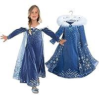 a4041eb2942ed dingmi アナと雪の女王 エルサ 風 子供用 ドレス キッズ コスチューム 仮装 衣装 エルサドレス