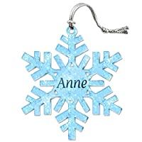 Anne 個別のスノーフレークアクリルクリスマスオーナメント