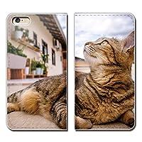 (ティアラ) Tiara AQUOS SERIE SHL25 スマホケース 手帳型 ベルトなし 猫 ねこ ネコ 写真 ペット 子猫 かわいい 手帳ケース カバー バンドなし マグネット式 バンドレス EB261020070605
