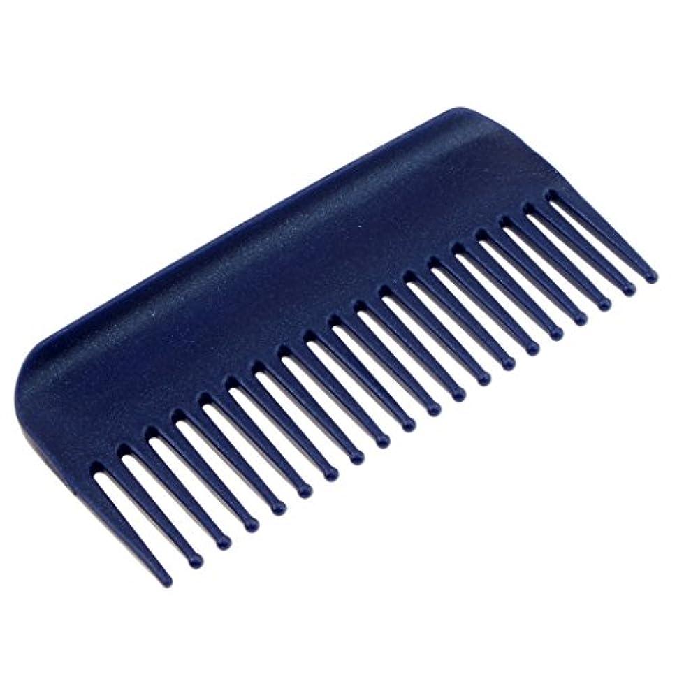 経済的リーチ楕円形Perfk ヘアブラシ ヘアコーム コーム 櫛 くし 頭皮 マッサージ 耐熱性 帯電防止 高品質 4色選べる - 青