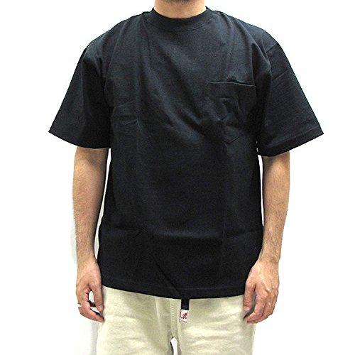 キャンバー 302 8オンス ヘビーウェイト ポケット付 半袖Tシャツ POCKET S/S T-SHIRT メンズ M BLACK [並行輸入品]