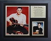 "Legends Never Die "" Elvis Presley ""カラー縦フレーム入り写真コラージュ、11x 14インチ"