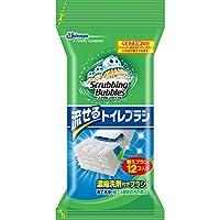 スクラビングバブル トイレ洗剤 流せるトイレブラシ 付替用12個