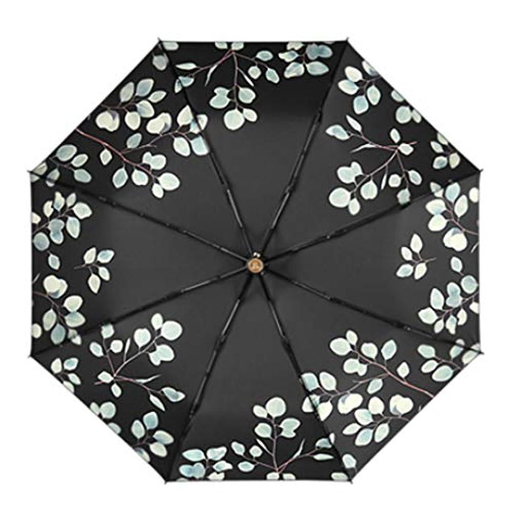 受信ダイバー締め切りHOHYLLYA 超軽量の小さな折りたたみ傘紫外線保護日傘ミニ日焼け止め傘ポータブルブラック傘 sunshade (色 : 黒)