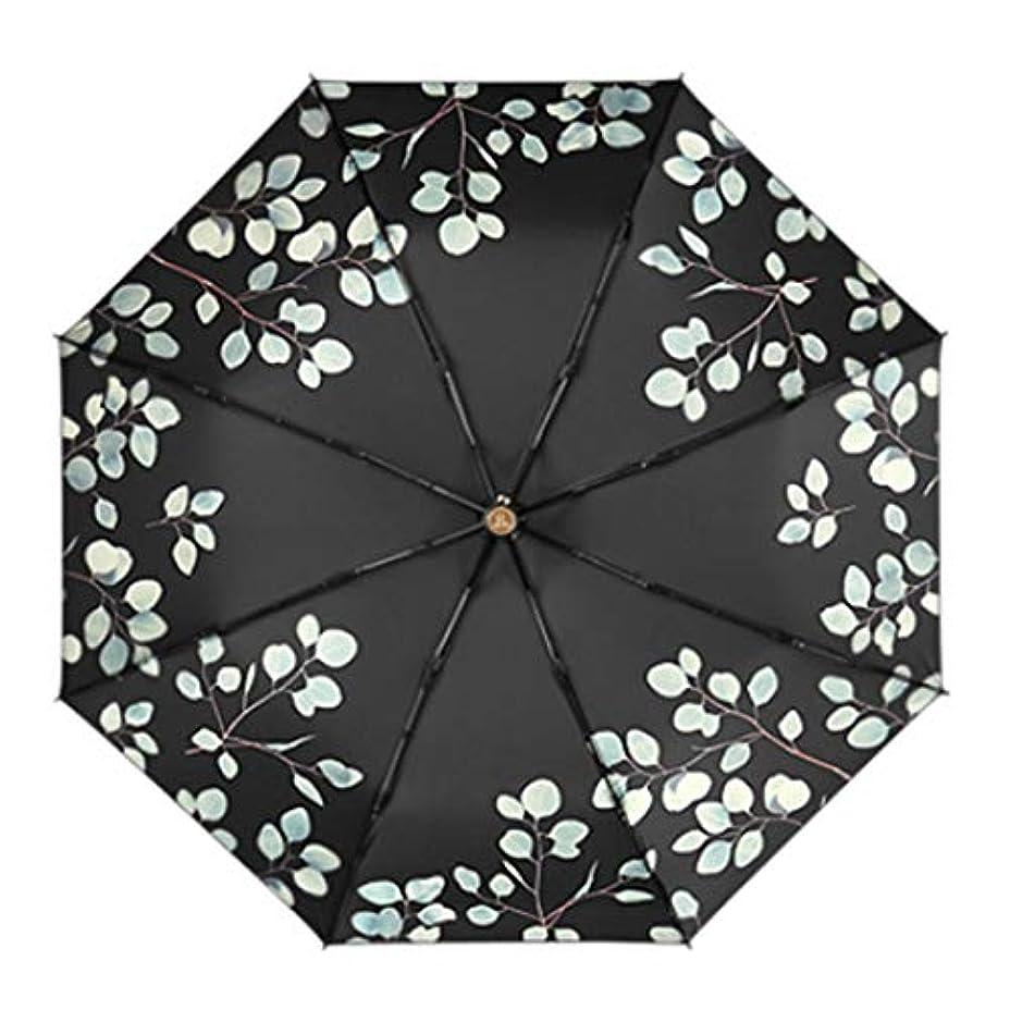 バーゲン出力ロマンスHOHYLLYA 超軽量の小さな折りたたみ傘紫外線保護日傘ミニ日焼け止め傘ポータブルブラック傘 sunshade (色 : 黒)