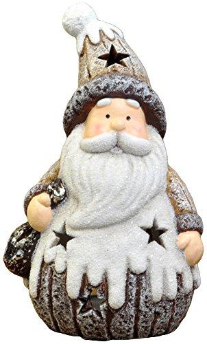 RoomClip商品情報 - あまの クリスマス飾り LED ウッディテラコッタ サンタ QZL-8101