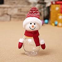 inverlee Merry Christmasサンタクロース雪だるまキャンディJarコンテナストレージ One Size