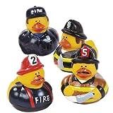 Fun Express Firefighter Fireman Fire Fighter Hero Rubber Ducks (12 Pack) [並行輸入品]