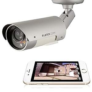 PLANEX カメラ一発! アウトドア対応 無線LANネットワークカメラ 防水・防塵/マイク内蔵/赤外線LED CS-W80HD