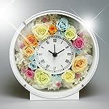 PRECIOUS GARDEN プリザーブドフラワー お花の時計 PSYH-01203 (パステル)