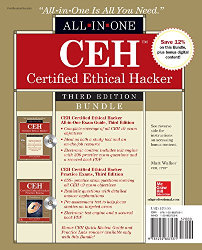Download CEH Certified Ethical Hacker Bundle, Third Edition (All-in-One) 125983753X