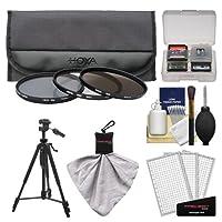 Hoya 62mm 3ピースデジタルフィルタセット(HMC UV紫外線、Circular Polarizer & nd8ニュートラル密度) withケース+三脚キットfor Canon、Nikon、Sony、Olympus & Pentaxレンズ