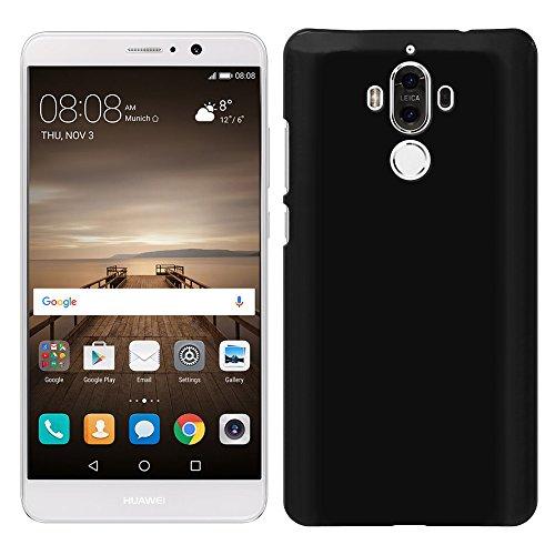 [Breeze-正規品] iPhone ・ スマホケース ポリカーボネイト [Black]ファーウェイ メイト9 ケース HUAWEI Mate 9 SIMフリー MATE9ケース MATE9カバー 液晶保護フィルム付 全機種対応 [MATE9]