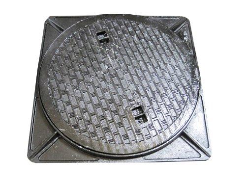 鋳鉄製マンホール(普及型) 6t荷重マンホール 蓋+枠セット フタ径650mm 穴径600mm MK-6-600