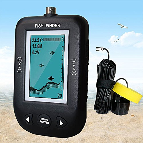 魚群探知機 音波式 携帯型 フィッシュファインダー ソラー測定 軽量小型 日本語取扱説明書付き 父の日 ギフト