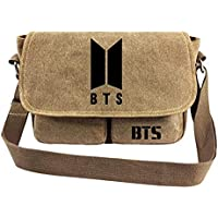 Kpop BTS Bangtan Boys Messenger Bag Vintage Canvas Shoulder Bag Love Yourself for Army