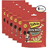 SCHMACKOS Tasty Bites Cheese & Beef Dog Treats 140g Bag, 6 Count