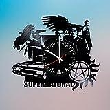 スーパーナチュラル The Supernatural ビニール レコード デザイン 壁掛け 時計 - ユニークなリビングルームの壁掛けの飾りを得ます - 友人、子供、兄弟のためのギフトのアイデア - スーパーナチュラル ユニークなアート - フィードバックを残してカスタムの壁掛け時計を獲得します