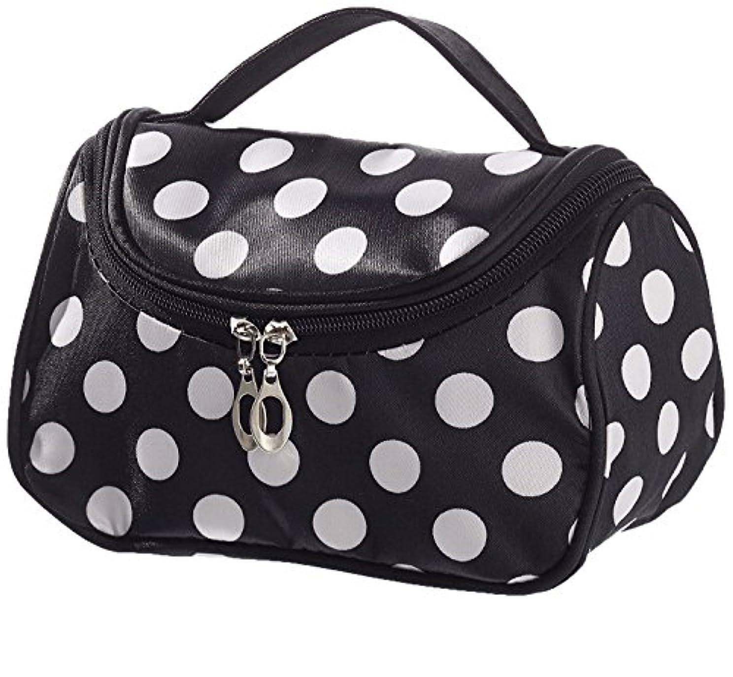 石炭浸漬感染するHommy コスメティックバッグ メークバッグ ハンドバッグ 化粧品収納バッグ 鏡付き 化粧ポーチ