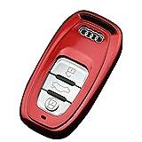 アウディ Audi A4 A6 A5 A7 A8 Q5 リモコン キー ケース (赤)