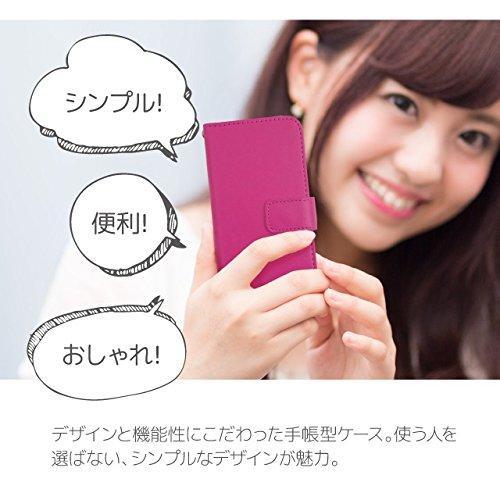 TeamS(チームエス) iPhone8 Plus [LL] ケース 手帳型 スマホケース sl1t シンプル レザー 無地 ホワイト カードタイプ