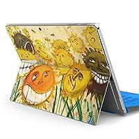 Surface pro6 pro2017 pro4 専用スキンシール サーフェス ノートブック ノートパソコン カバー ケース フィルム ステッカー アクセサリー 保護 クール ユニーク ひまわり 顔 001082