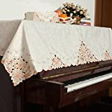 unusual ピアノトップカバー おしゃれ ピアノカバー アップライトピアノ シート 防塵カバー ピアノ掛け 北欧 アンティーク調 花