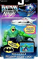 "Batman ~ Knight Force Ninjas ~ Tailwhip Killer Croc ~ 6"" Bendable Action Figure"
