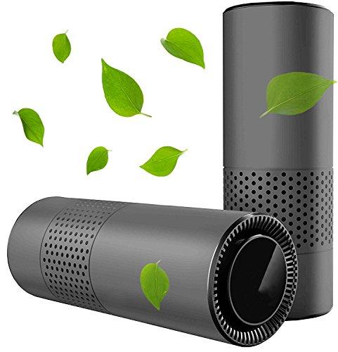 コノビヤ 車載用 空気洗浄機 USB空気清浄芳香器 PM2.5対応 脱臭 殺菌 静音 イオン発生 花粉 ホコリ除去 タバコ 微粒子99.9%除去 HEPAフィルター