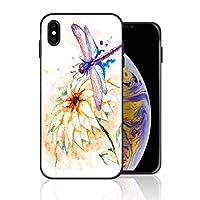 iPhone XS Max 携帯カバー とんぼ 夏日 ナチュラル あらせいとう カバー TPU 薄型ケース 防塵 保護カバー 携帯ケース アイフォンケース 対応 ソフト 衝撃吸収 アイフォン スマートフォンケース 耐久
