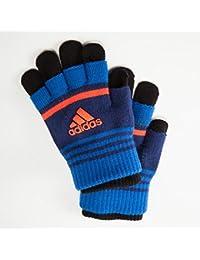 (アディダス) adidas キッズ ボーイズ向け すべり止め付 のびのびニット手袋 レイヤードタイプ 2枚重ね 3WAYに使える 日本製 正規サブライセンス商品
