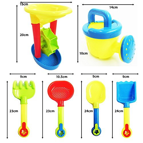 カラフルおでかけ 砂場セット 砂遊び  おもちゃセット 水遊びおもちゃ 知育玩具 (13点セット) [rinda]
