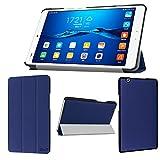 wisers Huawei MediaPad M3 BTV_DL09A BTV_DL09B BTV_W09 8.4インチ タブレット 専用 超薄型 スリム ケース カバー ダークブルー