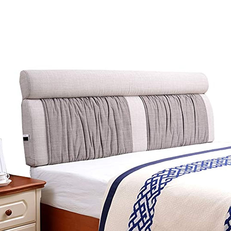 そうにもかかわらず暴露KKCF ヘッドボードクッション帯電防止ソフトケースバックレスト取り外し可能な寝室亜麻 、5色 、8サイズ (色 : Gray, サイズ さいず : 185x60x12cm)