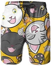 猫 おもしろ メンズ サーフパンツ 水陸両用 水着 海パン ビーチパンツ 短パン ショーツ ショートパンツ 大きいサイズ ハワイ風 アロハ 大人気 おしゃれ 通気 速乾