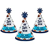 Go, Fight, Win - Sports - Mini Cone Baby Shower or Birthday Party Hats - Small Little Party Hats - Set of 10