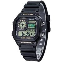 Casio AE-1200WH-1BV Youth Series Black Digital Sports Watch