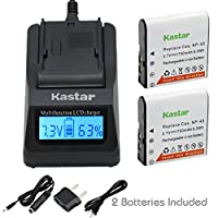 Kastar超高速充電器( 3x Faster )キットとバッテリ( 2- Pack ) for Casio NP - 40、np-40dba、np-40dca and bc-31l Work with Casio Exilim EX - z400、fc100、fc150、ex-fc160s、Pro ex-p505、ex-p600、ex-p700、ズームz100、- z1000、- z1050、z1080、ex-z1200、z200、ex-z30、- z300、ex-z40、z450、ex-z50、ex-z500、ex-z55、ex-z57、Pro ex-z600、Pro ex-z700、ex-z750、ex-z850カメラ[ 3x通常より高速充電器ポータブルUSB充電機能を]