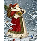 5D Diamond Painting Kit Full Drill, DIY Arts Crafts Accessories Wall Stickers for Living Room Father Christmas (12X16inches/30X40cm)