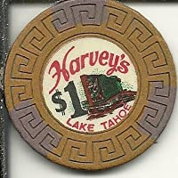 $ 1 Harveys Ltd Lake Tahoe Nevadaカジノチップヴィンテージ