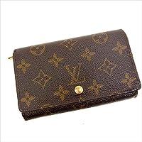ルイヴィトン Louis Vuitton L字ファスナー財布 二つ折り ユニセックス ポルトモネビエトレゾール M61730 モノグラム 中古 Y057