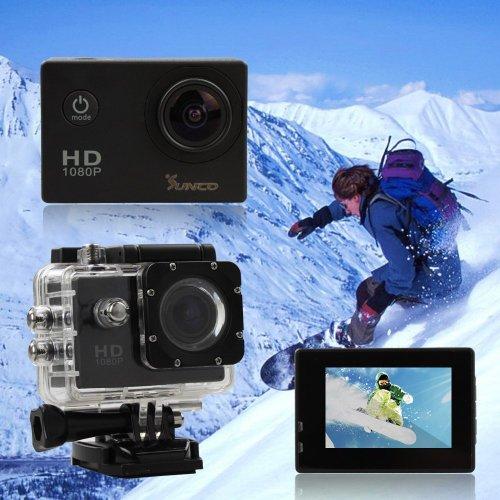 Sunco® SJ4000 1080P高画質 防水スポーツ アクション カメラ 日本語対応 サイクル録画 Gセンサー付き バイクや自転車、カートや車に取り付け可能